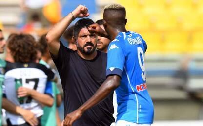 """Gattuso: """"Osimhen ha una marcia in più"""""""