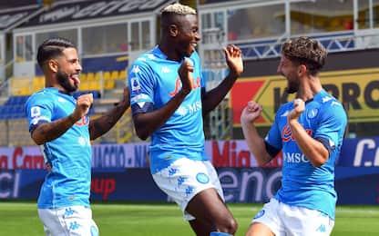 Mertens-Insigne: Parma ko 2-0, debutto per Osimhen