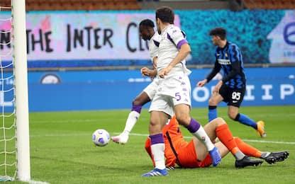 Inter-Fiorentina 0-1 LIVE: Kouamé-gol, Handa salva