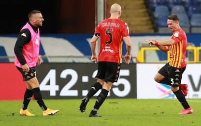 Benevento, super rimonta con la Samp: da 0-2 a 3-2