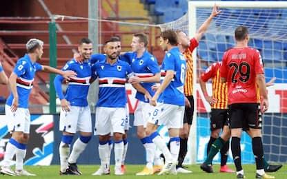 Samp-Benevento 2-2 LIVE: doppietta di Caldirola