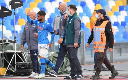 Napoli-Genoa 1-0 LIVE: infortunio per Insigne