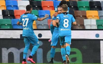 Udinese-Spezia 0-1 LIVE: in gol Galabinov