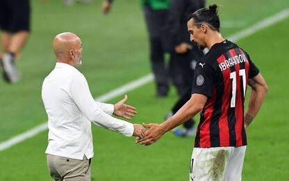 Pioli, sorpresa Leao e certezza Ibra con l'Inter