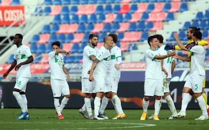 Sassuolo in rimonta, 4-3 a Bologna e secondo posto