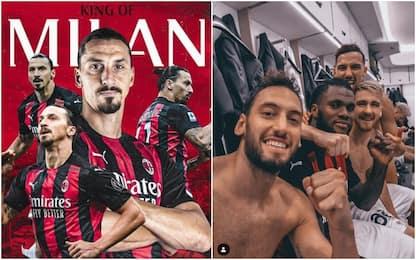 """Milan, festa social e a Lukaku: """"C'è un solo re"""""""