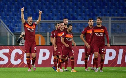 Doppio Dzeko, la Roma batte 5-2 il Benevento