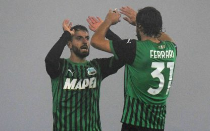 Pazzo Sassuolo: in 2' rimonta il Toro da 1-3 a 3-3