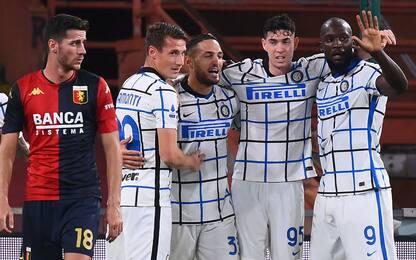 Lukaku-D'Ambrosio, l'Inter batte il Genoa 2-0