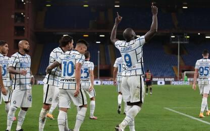 L'Inter riparte dal Genoa: 2-0 nel segno di Lukaku