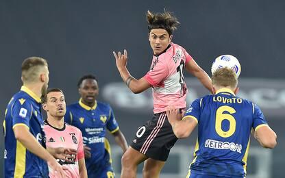 Juve-Verona 0-0 LIVE: traversa di Cuadrado
