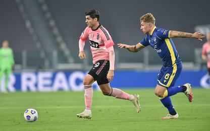 Juve-Verona 0-0 LIVE: Morata-gol, è fuorigioco