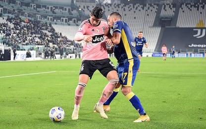 Juve-Verona 0-0 LIVE: Colley al volo, fuori