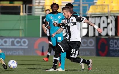 Il Parma si salva al 93', 2-2 con lo Spezia