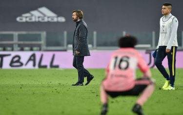 Juventus coach Andrea Pirlo walks at the end of the italian Serie A soccer match Juventus FC vs Hellas Verona FC at the Allianz stadium in Turin, Italy, 25 Octoberr 2020.