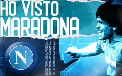 """""""Ho visto Maradona"""": gli auguri del Napoli. VIDEO"""