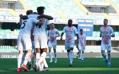 Gol con marcatori diversi: Milan sale al 2° posto