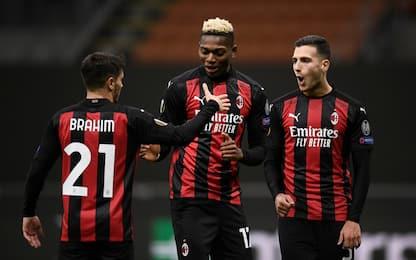 Gol con marcatori diversi: Milan 1°, Juve ultima