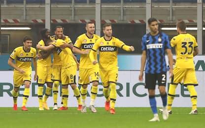 Inter-Parma 1-2 LIVE: Sepe salva su Ranocchia
