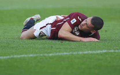 Trauma al ginocchio destro, Belotti salta il Genoa