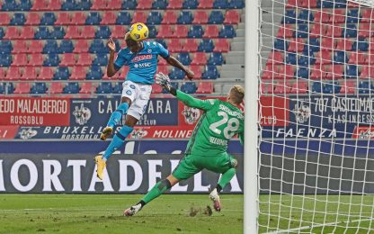 Al Napoli basta un gol di Osimhen: Bologna ko 1-0
