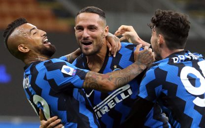 2 tiri, 2 gol: è D'Ambrosio il cecchino in Serie A