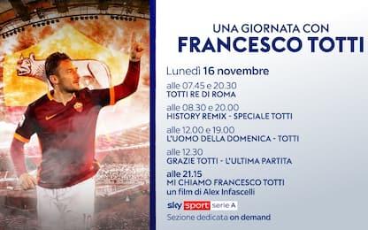 """Oggi su Sky: """"Una giornata con Francesco Totti"""""""