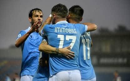 Immobile torna e segna, la Lazio batte il Crotone