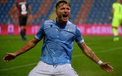 Lazio, bomber all time: Immobile sale al 2° posto
