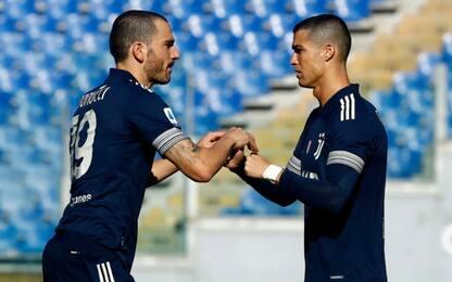Ronaldo non parte per Benevento, torna Bonucci