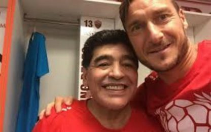 """Totti: """"Diego il primo a chiamarmi dopo il ritiro"""""""