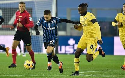 Atalanta-Verona 0-0 LIVE: traversa di Veloso