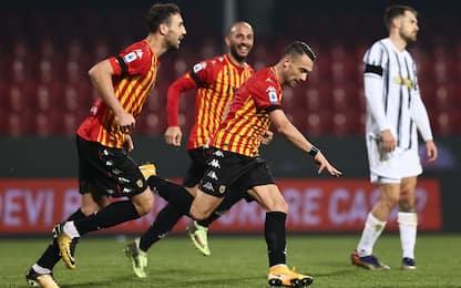 Morata non basta, la Juve frena 1-1 a Benevento