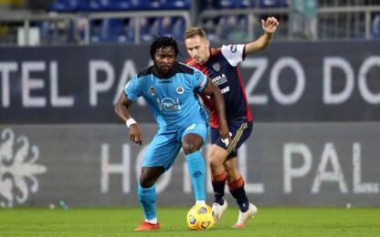 Nzola beffa il Cagliari al 94', 2-2 con lo Spezia