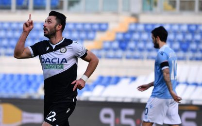 Colpo Udinese: Lazio battuta 3-1 all'Olimpico