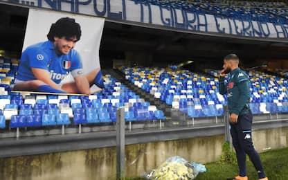 Fiori, emozione, dediche: tutto nel segno di Diego
