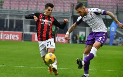 Milan-Fiorentina 2-0 LIVE: raddoppia Kessié