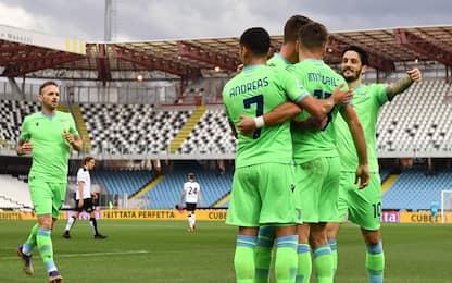 Immobile-Milinkovic, la Lazio batte lo Spezia 2-1