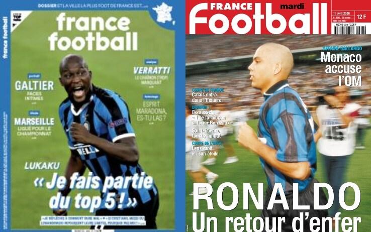 Lukaku sulla copertina di France Football. L'ultimo interista in prima pagina era stato Ronaldo nel 2000