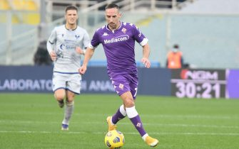 Fiorentina's midfielder Franck Ribery in action during the Italian Serie A soccer match between ACF Fiorentina and Hellas Verona at the Artemio Franchi stadium in Florence, Italy, 19 December  2020.  ANSA/CLAUDIO GIOVANNINI