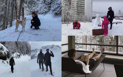 Nord sotto la neve, i calciatori se la godono così