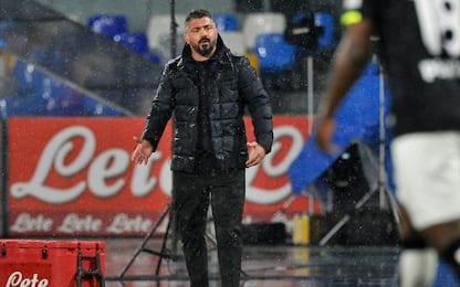 """Gattuso: """"Siamo vivi dopo mazzata con lo Spezia"""""""