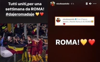 """Zaniolo 'torna' sui social: """"Roma è As Roma"""""""