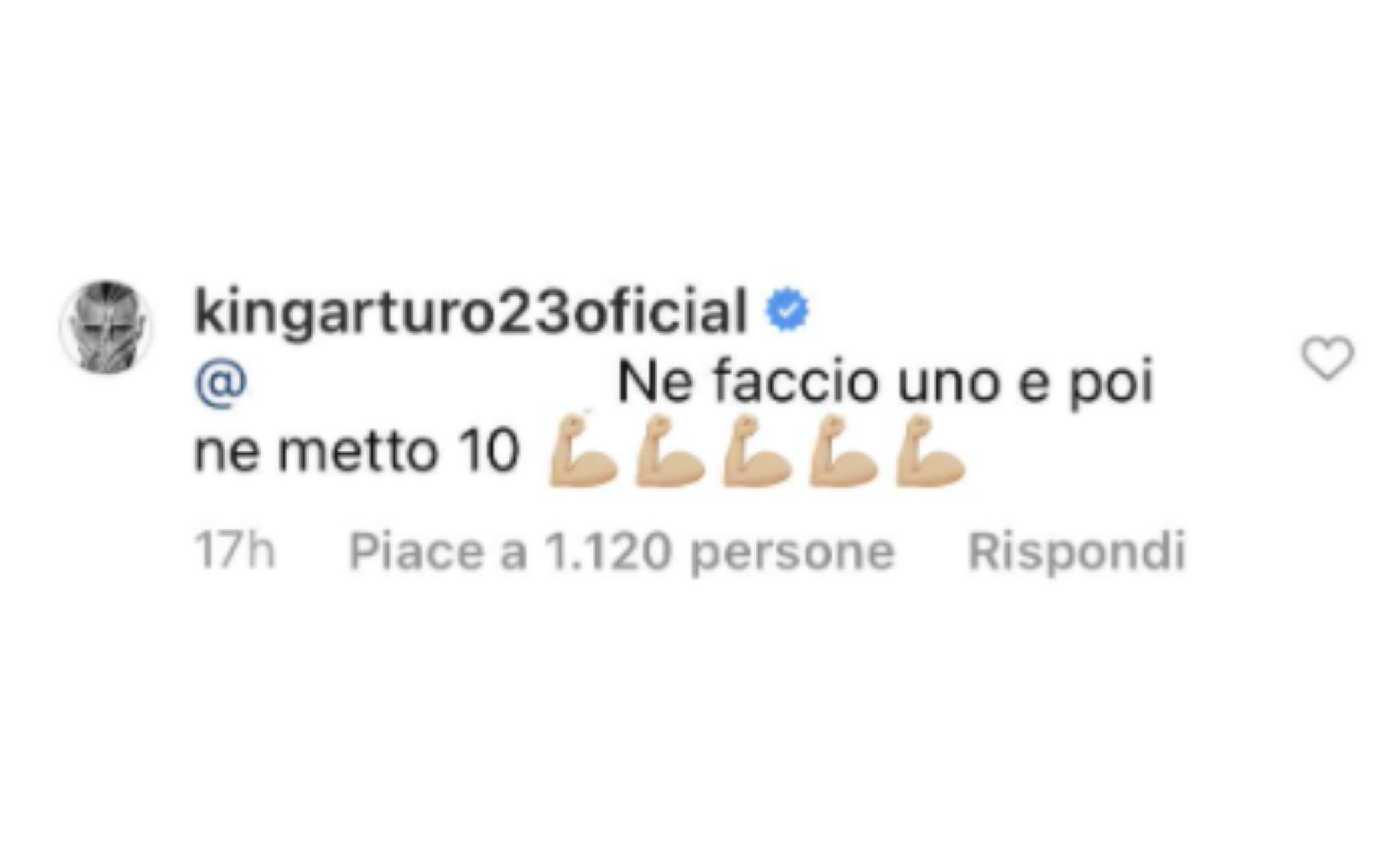 La risposta di Vidal su Instagram