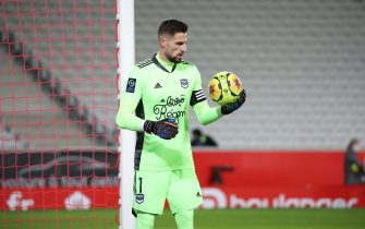 Costil 1 goalkeeper bordeaux during the French Championship Ligue 1 football match between Lille OSC and Girondins de Bordeaux on December 13, 2020 at Pierre Mauroy stadium in Villeneuve-d'Ascq near Lille, France - Photo Laurent Sanson / LS Medianord / DPPI / LM