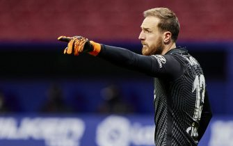 Jan Oblak of Atletico de Madrid during the La Liga match between Atletico de Madrid and Getafe CF played at Wanda Metropolitano Stadium on December 29, 2020 in Madrid, Spain. (Photo by Ruben Albarrán/PRESSINPHOTO)