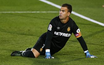 Manolo Reina of RCD Mallorca during the La Liga match between Real Madrid and RCD Mallorca played at Alfredo Di Stefano Stadium on June 24, 2020 in Madrid, Spain.