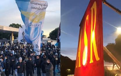 Lazio-Roma, i tifosi prima del derby. FOTO e VIDEO