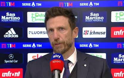 """Di Francesco: """"Nostro rigore? Ibra più furbo"""""""