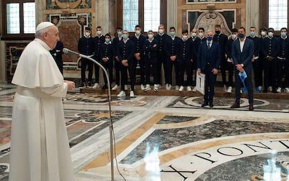 """Lo Spezia incontra il Papa: """"Bravi per ieri sera"""""""